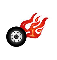 Car wheel tire icon vector