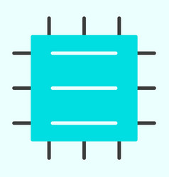 central processor unit icon cpu minimal pictogram vector image