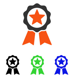 Certification seal flat icon vector