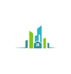 city building construction logo vector image