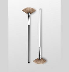 clean professional makeup highlighter brush vector image