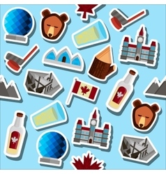 Colored Canada symbols pattern vector