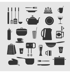cookware set objects vector image