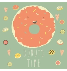 Donut with glaze vector