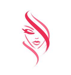 Face female logo vector