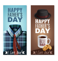 fathers day banners vector image