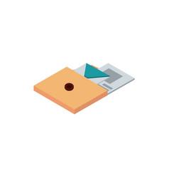 folder with envelope letter paper correspondence vector image