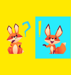 fox think cartoon foxes finding solution problem vector image