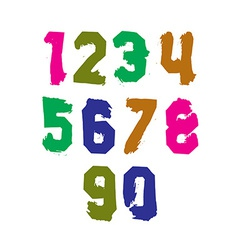 Freak colorful graffiti digits set of unusual vector
