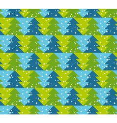Green and blue color Christmas seamless pattern vector image vector image