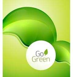 Green leaf modern concept vector image