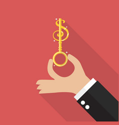 hand hold money key vector image