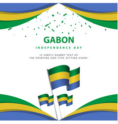 Happy gabon independence day celebration poster vector