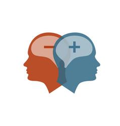 Head icon for bipolar disorder vector