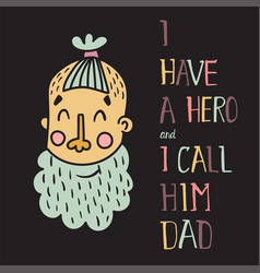 hero dad first vector image