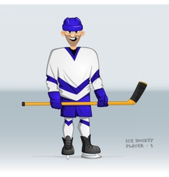 Ice hockey player standing vector