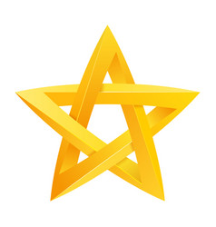 impossible star 3d for your project icon or logo vector image