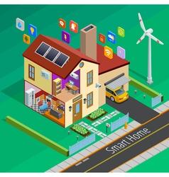 Internet Of Things Home Isometric Poster vector