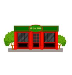 irish pub building vector image