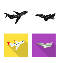 Isolated object plane and transport sign set vector