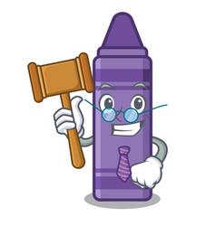 Judge purple crayon in a mascot bag vector
