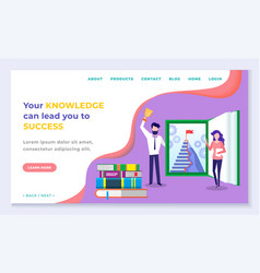 knowledge and success online education vector image