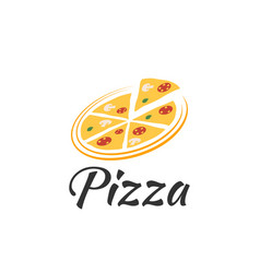 logo pizza on a white background vector image