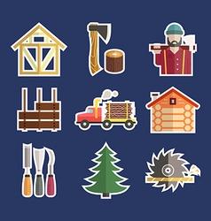 Lumberjack Icons vector