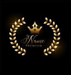 Luxury royal logo concept or label with crown vector