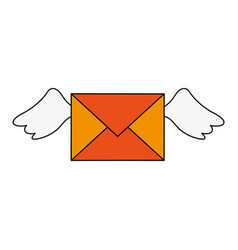 Mail with wings vector