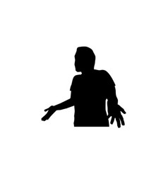 man surprised silhouette vector image