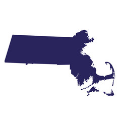 Map of the us state massachusetts vector