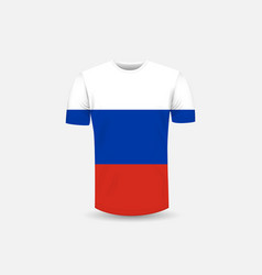 mens t-shirt icon and russia flag vector image
