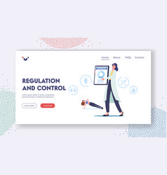 Metabolism regulation and control landing page vector