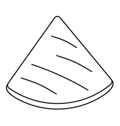 mexican pita icon outline style vector image
