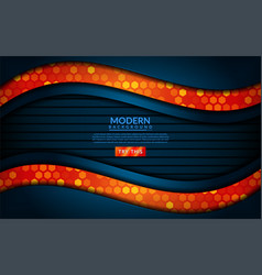 modern tech blue combine with orange background vector image