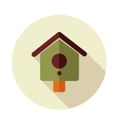 Nesting box bird-house flat icon vector