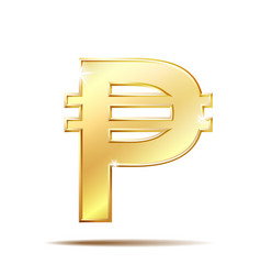 Philippine peso currency symbol vector