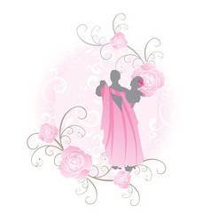 pink roses dance vector image