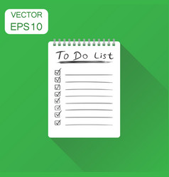 Realistic notepad with spiral icon business vector