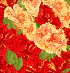 Red and yellow flowering shrub floral background vector