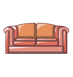 red big sofa icon cartoon style vector image
