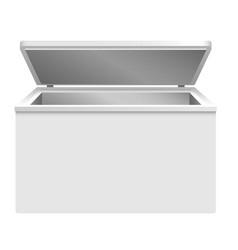 refrigerator icon realistic style vector image