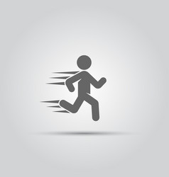 running man isolated icon vector image