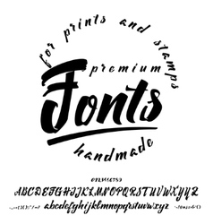 Script - handwriting brush it can be used vector