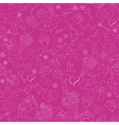 Seamless background with Doodles sketch vector image