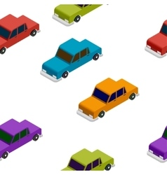 Seamless Car isometric pattern vector image vector image