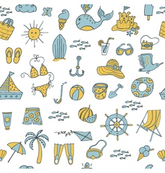 seamless pattern summer vector image