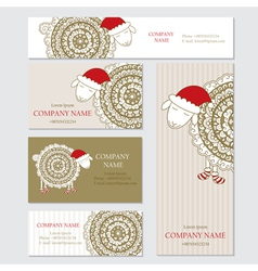 set business or invitation cards templates vector image