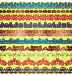 Set of seamless borders for scrapbooking vector image